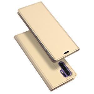 DUX PU kožené pouzdro na mobil Huawei P30 Pro - zlaté - 1