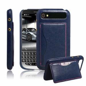 PU kožený kryt se stojánkem na BlackBerry Classic - modré - 1