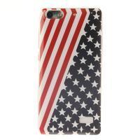 Gelový obal na mobil Honor 4C - americká vlajka - 1/5