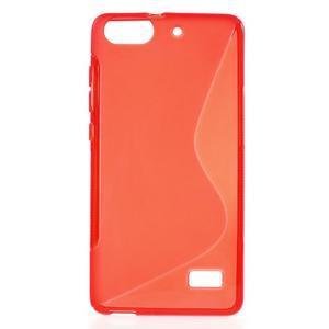 S-line gelový obal na mobil Honor 4C - červený - 1