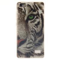 Gelový obal na mobil Honor 4C - bílý tygr - 1/5