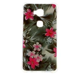 Drop gelový obal na Huawei Honor 5X - květiny - 1