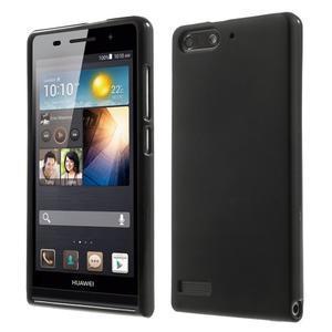 Matné gelové pouzdro na Huawei Ascend G6 - černé - 1