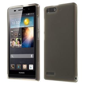 Matné gelové pouzdro na Huawei Ascend G6 - šedé - 1