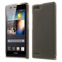 Matné gelové pouzdro na Huawei Ascend G6 - šedé - 1/6