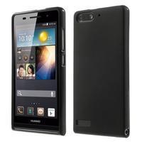 Matné gelové pouzdro na Huawei Ascend G6 - černé - 1/6