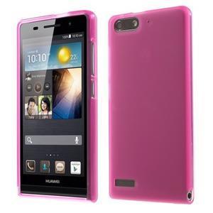 Matné gelové pouzdro na Huawei Ascend G6 - rose - 1
