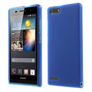 Matné gelové pouzdro na Huawei Ascend G6 - modré - 1