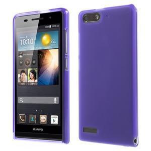 Matné gelové pouzdro na Huawei Ascend G6 - fialové - 1