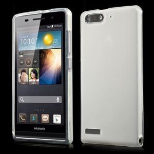Matné gelové pouzdro na Huawei Ascend G6 - bílé - 1