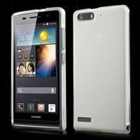 Matné gelové pouzdro na Huawei Ascend G6 - bílé - 1/6