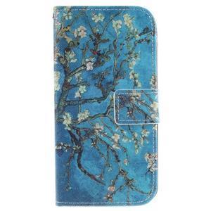 Peněženkové pouzdro na mobil LG K10 - kvetoucí strom - 1