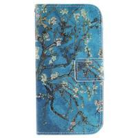 Peněženkové pouzdro na mobil LG K10 - kvetoucí strom - 1/7