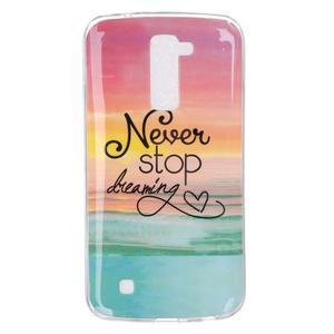 Fony gelový obal na mobil LG K10 - nepřestávej snít - 1