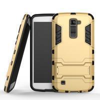 Odolný kryt na mobil LG K10 - zlatý - 1/2