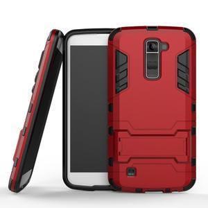 Odolný kryt na mobil LG K10 - červený - 1