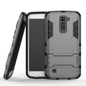 Odolný kryt na mobil LG K10 - šedý - 1