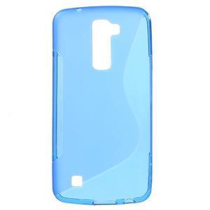 S-line gelový obal na mobil LG K10 - modrý - 1