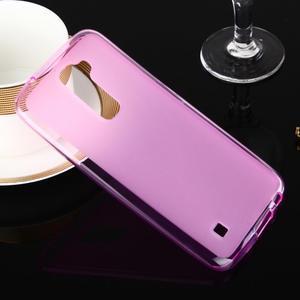 Stter matný gelový obal na mobil LG K10 - růžový - 1