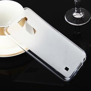 Stter matný gelový obal na mobil LG K10 - bílý - 1