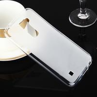 Stter matný gelový obal na mobil LG K10 - bílý - 1/6