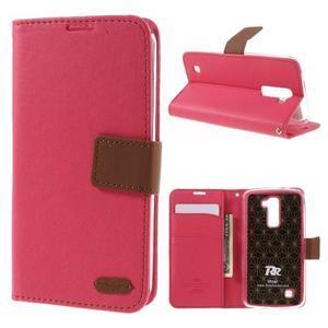 Style PU kožené pouzdro pro LG K10 - rose - 1