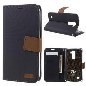 Style PU kožené pouzdro pro LG K10 - černé - 1