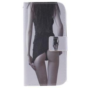 Peněženkové pouzdro na mobil LG K10 - sexy dívka - 1