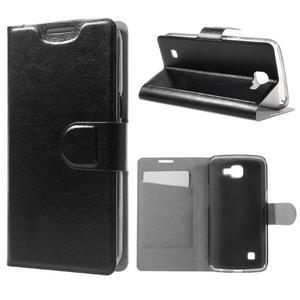 Horse PU kožené pouzdro na mobil LG K4 - černé - 1