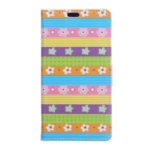 Style peněženkové pouzdro na LG K4 - barevné květiny - 1