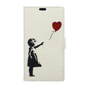 Style peněženkové pouzdro na LG K4 - letící srdce - 1
