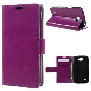 Fialové peněženkové pouzdro na LG K4 - 1