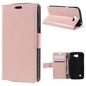 Růžové peněženkové pouzdro na LG K4 - 1
