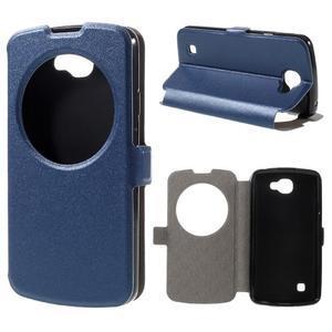 Trend pouzdro s okýnkem na mobil LG K4 - modré - 1