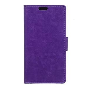 Leat peněženkové pouzdro na LG K4 - fialové - 1