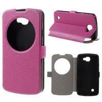 Trend pouzdro s okýnkem na mobil LG K4 - rose - 1/7