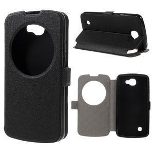 Trend pouzdro s okýnkem na mobil LG K4 - černé - 1
