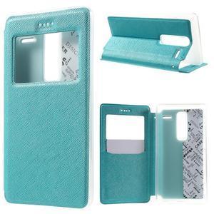 Cross peněženkové pouzdro s okýnkem na LG Zero - modré - 1