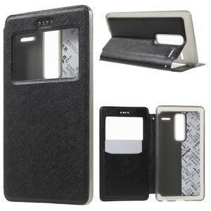 Cross peněženkové pouzdro s okýnkem na LG Zero - černé - 1
