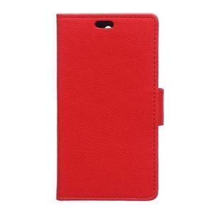 Wallet pouzdro na mobil Lenovo A1000 - červené - 1