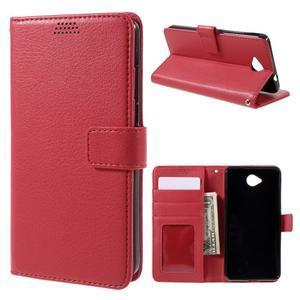 Funny peněženkové pouzdro na mobil Microsoft Lumia 650 - červené - 1