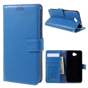 Funny peněženkové pouzdro na mobil Microsoft Lumia 650 - modré - 1