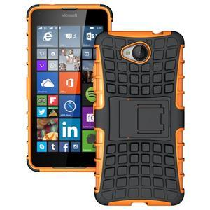 Outdoor odolný obal na mobil Microsoft Lumia 650 - oranžový - 1