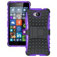 Outdoor odolný obal na mobil Microsoft Lumia 650 - fialový - 1/5