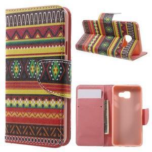 Peněženkové pouzdro na mobil Samsung Galaxy A3 (2016) - tribal - 1