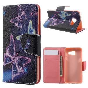 Peněženkové pouzdro na mobil Samsung Galaxy A3 (2016) - kouzelní motýlci - 1
