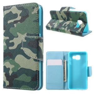 Peňaženkové puzdro pre mobil Samsung Galaxy A3 (2016) - kamufláž - 1