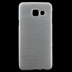 Gelový obal s motivem broušení na Samsung Galaxy A3 (2016) - bílý - 1