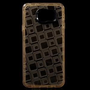 Square gelový obal na mobil Samsung Galaxy A3 (2016) - zlatý - 1