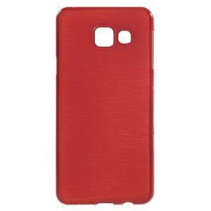 Gelový obal s motivem broušení na Samsung Galaxy A3 (2016) - červený - 1